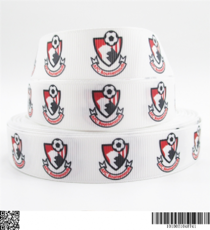 1 METRE AFC BOURNEMOUTH RIBBON SIZE 7/8s HEADBANDS BOWS CARD MAKING CRAFTS